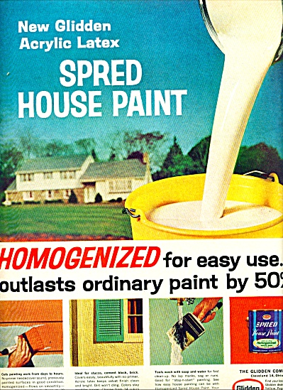 Spred house paint - Glidden co. ad 1964 (Image1)