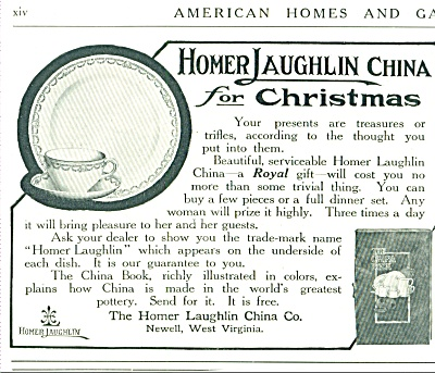 1912 Homer Laughlin China Dinnerware Promo AD (Image1)