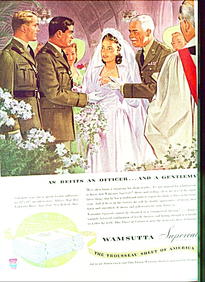 1942 Military Officer Wamsutta Marry Ad Artwo