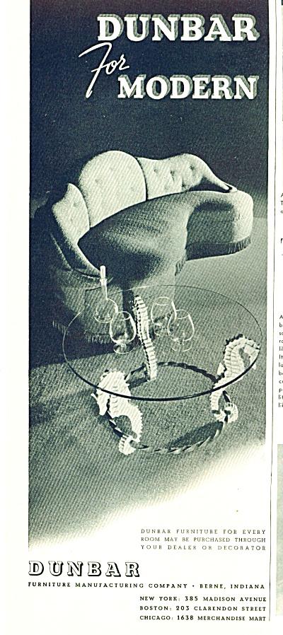 Dunbar furniture - modern ad 1942 (Image1)