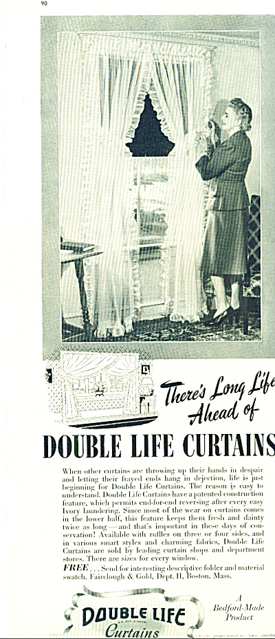 Double life curtains ad 1942 (Image1)