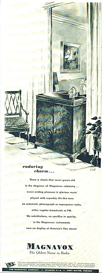 1942 MAGNAVOX Radio AD HALL ARTWORK (Image1)