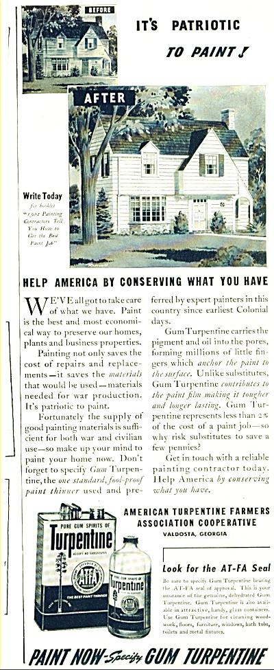Gum Turpentine ad 1942 (Image1)