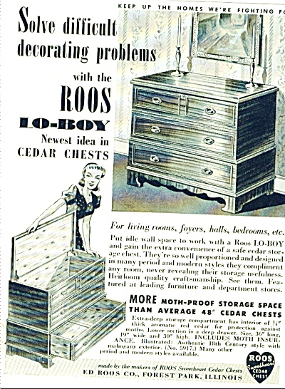 Roos Lo-boy cedar chests ad 1942 (Image1)