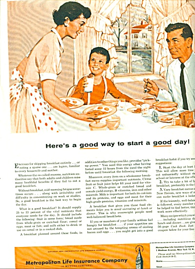 Metropolitan Life Insurance AD Family EATING (Image1)