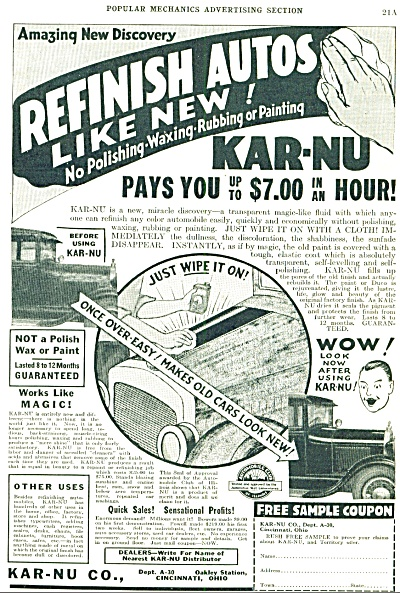 Kar-Nu Co.. = refinish autos like new ad 1934 (Image1)