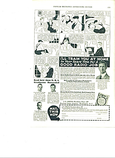 National Radio Institute - Radio jobs ad 1934 (Image1)