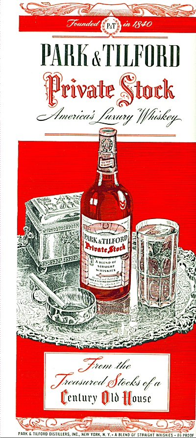 Park & Tilford Private Stock Whiskey Ad 1946