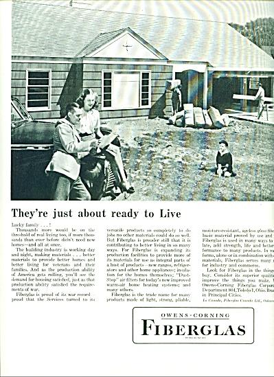 Fiberglass - Owens-Corning ad 1946 (Image1)