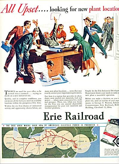 1946 Erie Railroad ad TUPPER ARTWORK (Image1)