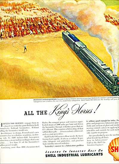1946 Shell - PENNSYLVANIA RAILROAD AD ART (Image1)