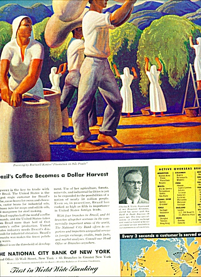 1946 National BANK ny ad ROCKWELL KENT ART (Image1)