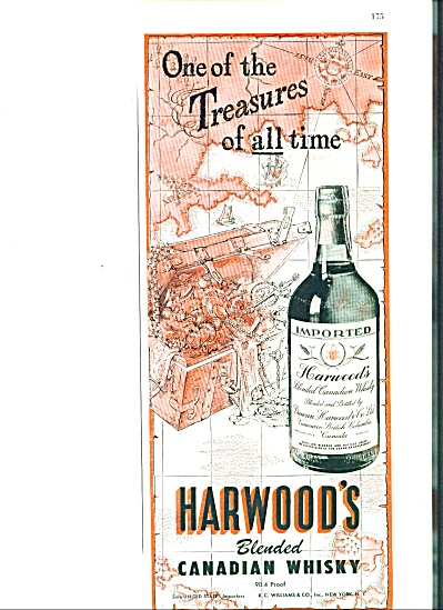 Harwood's Blended Canadian Whisky Ad 1964