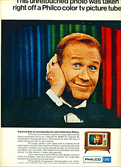 Philco television - RED BUTTONS  ad 1967 (Image1)
