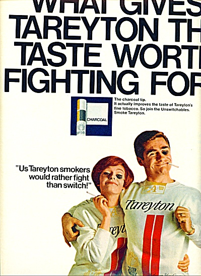 1967 Tareyton Cigarette Ad Rather Fight Than