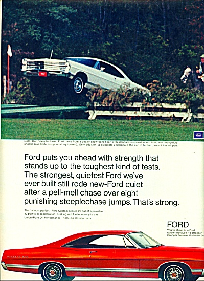 Ford custom automobile ad 1967 (Image1)