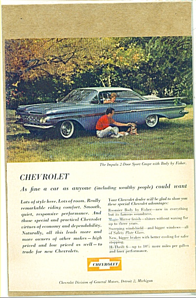1959 Chevrolet Impala CHEVY COUPE AD (Image1)