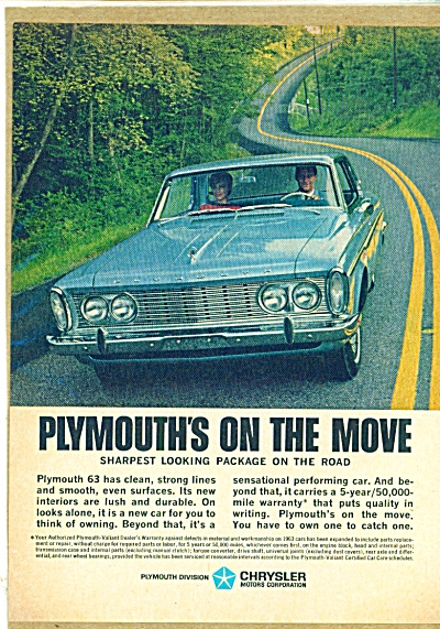 Chrysler Plymouth 1963 ad (Image1)
