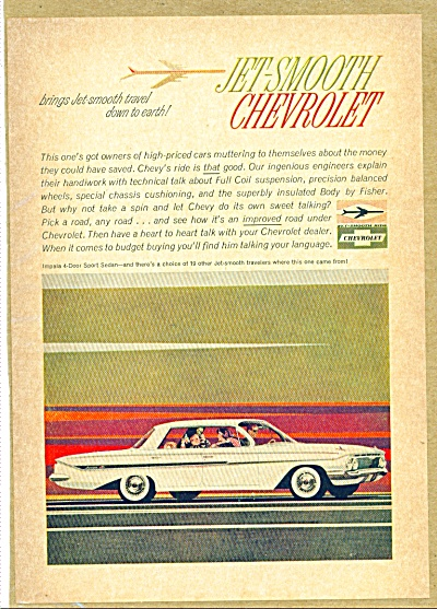 Chevrolet jet smooth Impala ad 1961 (Image1)