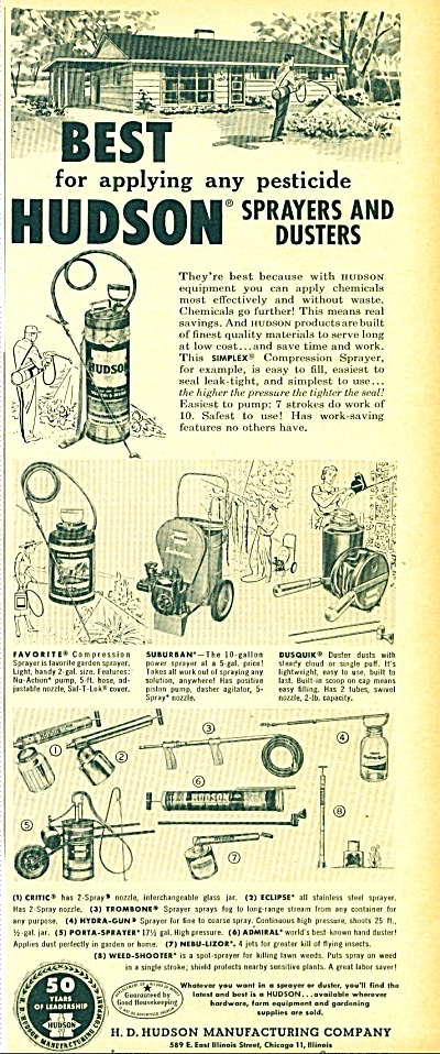 Hudson sprayers and dusters ad (Image1)