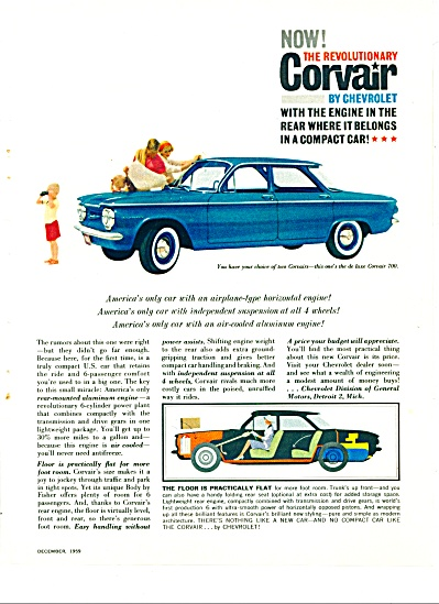 1959 Chevrolet Corvair CHEVY AD (Image1)