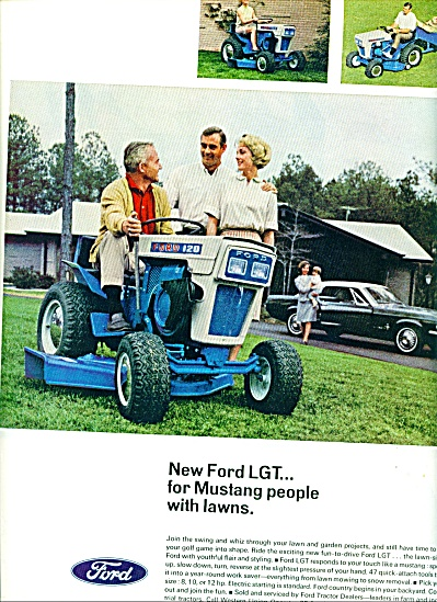 Ford lawn tractor ad (Image1)