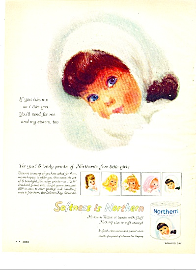 Northern Tissue ad 1959 (Image1)
