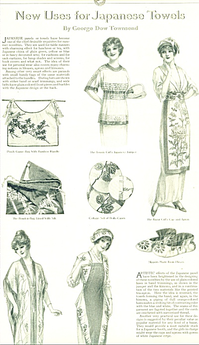 Vintage - New Uses For Japanese Towels 1914