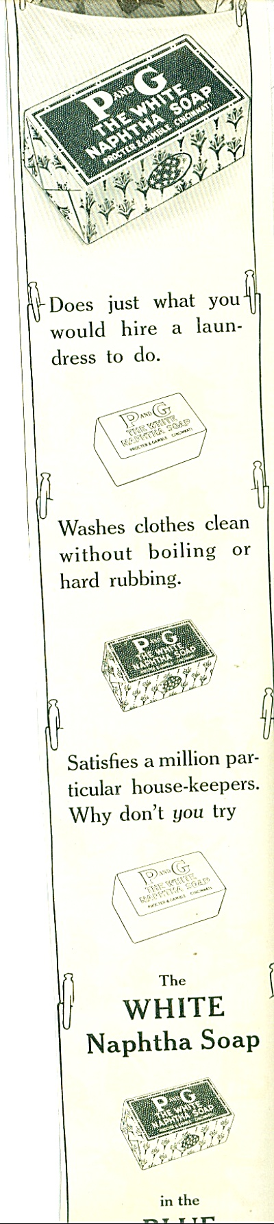 1914 P&G PROCTOR GAMPLE NAPHTHA SOAP AD (Image1)