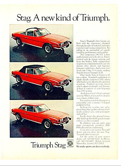 Triumph automobile 1973 ad (Image1)