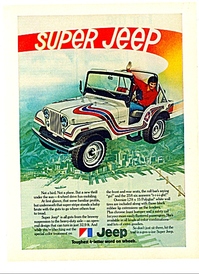 Jeep - toughest 4 letter word on wheels ad (Image1)