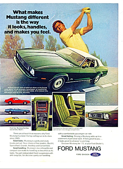 Ford Mustang  ad 1973 Many Different Models (Image1)
