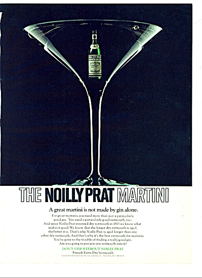 The Noilly Prat Martini Ad 1973