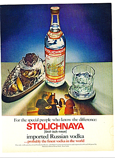 Stolichnaya Russian vodka 1973 ad (Image1)