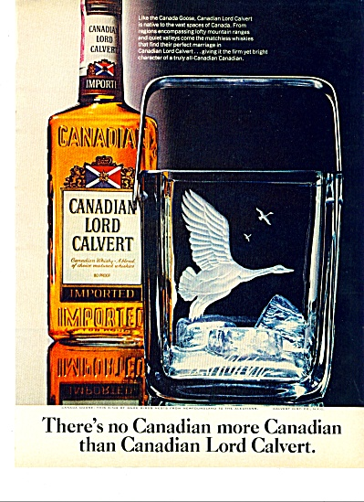 Canadian Lord Calvert ad (Image1)