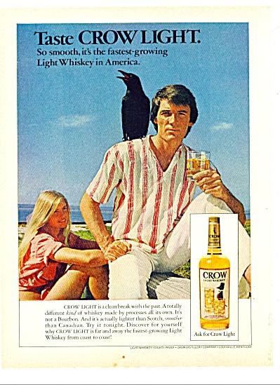 Crow light whiskey ad  1973 (Image1)