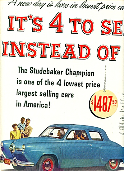 Studebaker Champion ad 1950 (Image1)