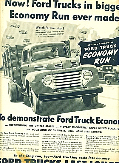 Ford Trucks economy run ad 1950 (Image1)