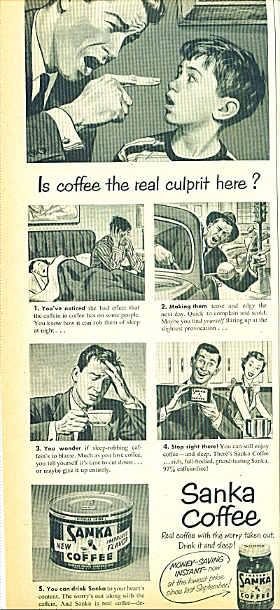 Sanka Coffee ad 1950 (Image1)