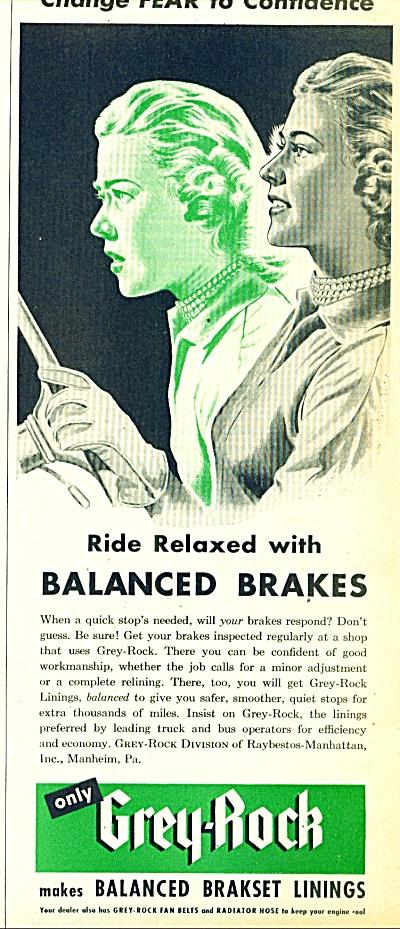 1950 Grey Rock Brakset AD RAYBESTOS Art (Image1)