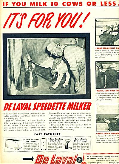 DeLaval- Separator company ad 1950 (Image1)