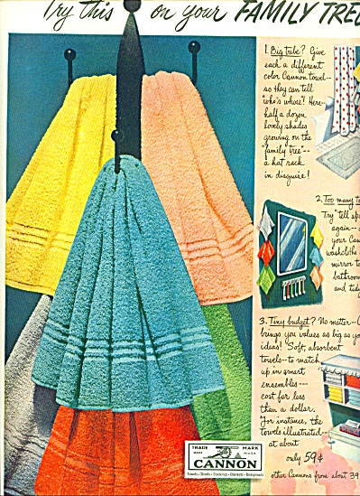 Cannon towels ad 1950 (Image1)