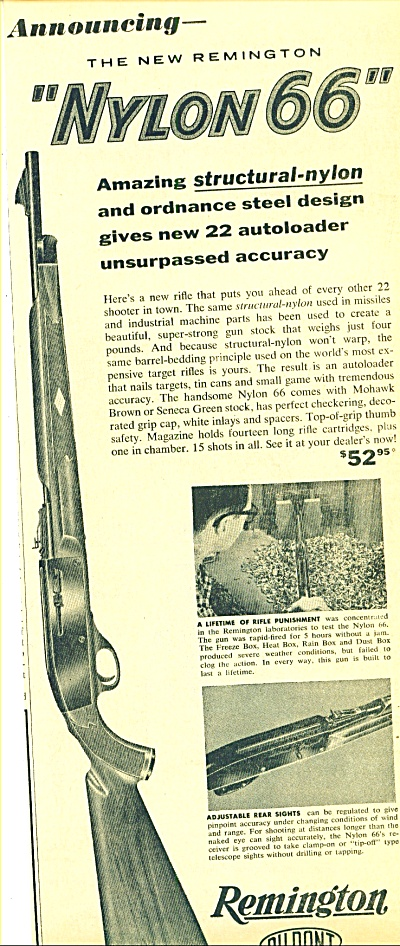 Remington rifle 22 autoloader ad 1960 (Image1)