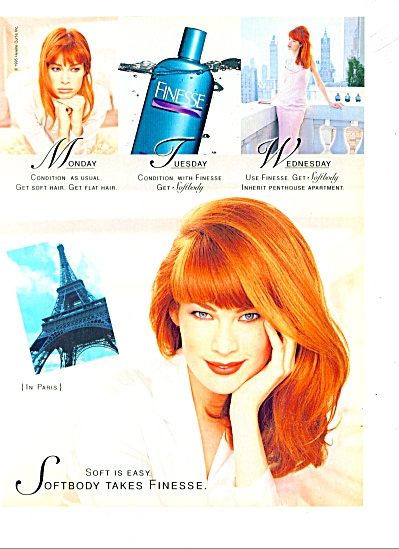 Finesse softbody  for the hair ad 1996 (Image1)