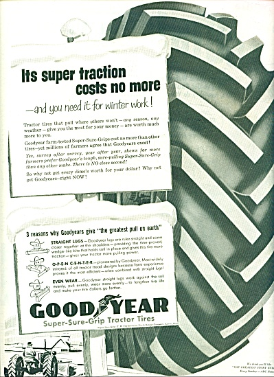 Goodyear super sure grip tractor tires ad (Image1)