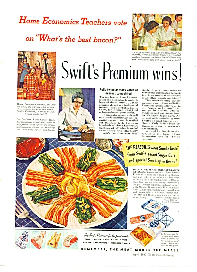 1940 SWIFT Food AD Home EC Economics Teacher (Image1)