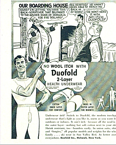 1952 Duofold Men's BEEFY underwear ad (Image1)