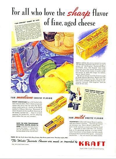 Kraft cheeses - Velveeta - ad 1940 (Image1)