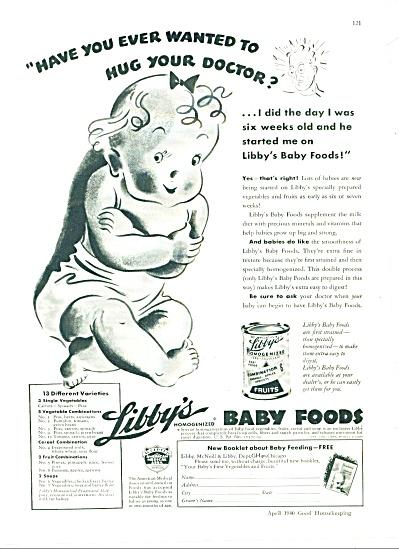 1940 LIBBY's BABY FOOD AD AMA HUG DOCTOR (Image1)