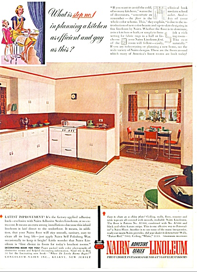 Nairn adhesive sealex linoleum ad 1940 (Image1)